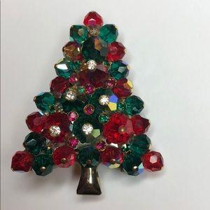 Christmas Tree Brooch.  Stunning!
